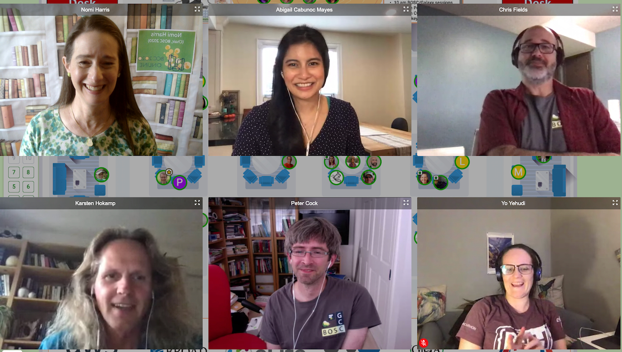 Screenshot from Bioinformatics Community Conference 2020  July 19-21, 2020